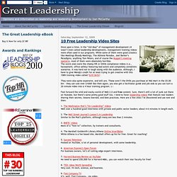 10 Free Leadership Video Sites