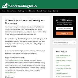 10 Great Ways to Learn Stock Trading as a New Investor