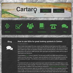 How to use QGis for great looking symbols in Cartaro