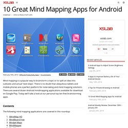 10 Great Mind Mapping Apps for Android