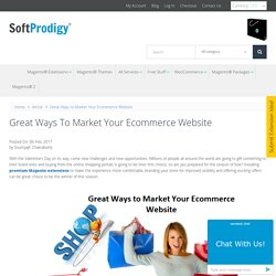 Great Ways to Market Your Ecommerce Website