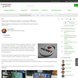 Great Minecraft Lesson Plans