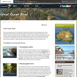 Great Ocean Road, Victoria - Tourism Australia