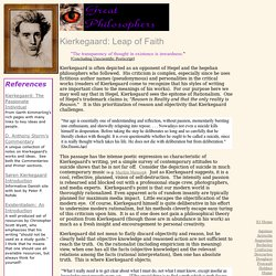 Great Philosophers: Kierkegaard