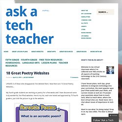 18 Great Poetry Websites