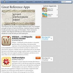 Great Reference Apps: iPad/iPhone Apps AppList