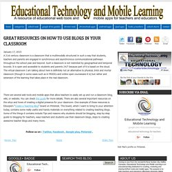 Great Resources On How to Use Blogs in Your Classroom