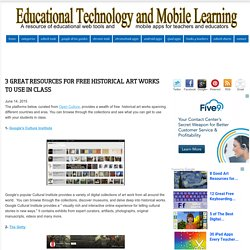 3 Great Resources for Free Historical Art Works to Use in Class