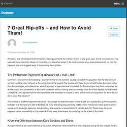 7 Great Rip-offs—and How to Avoid Them! [Work Smarter]