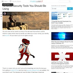 10 Great Security Tools You Should Be Using