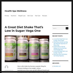 A Great Diet Shake That's Low in Sugar: Vega One