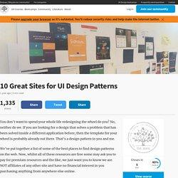 10 Great Sites for UI Design Patterns