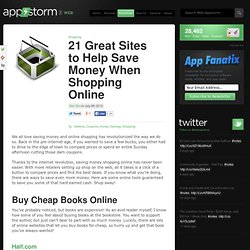 21 Great Sites to Help Save Money When Shopping Online
