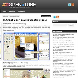 15 Great Open Source Creative Tools