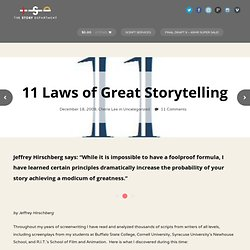 11 Laws of Great Storytelling - The Story Department
