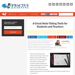 6 Great Note-Taking Tools for Students and Teachers