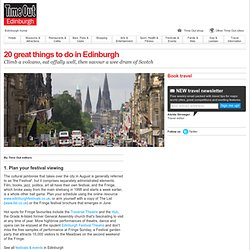 20 great things to do in Edinburgh - Time Out Edinburgh