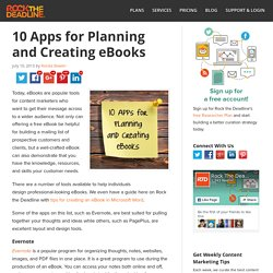 10 Great Tools for Creating eBooks