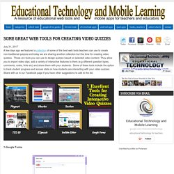 Educational Technology and Mobile Learning: Some Great Web Tools for Creating...