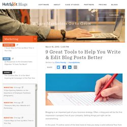 9 Best Tools to Help You Edit Blog Posts Better