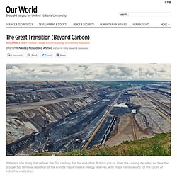 The Great Transition (beyond carbon)