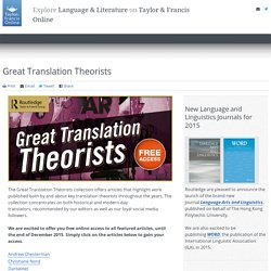 Great Translation Theorists