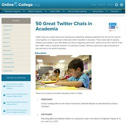 50 Great Twitter Chats in Academia