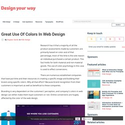 Great Use Of Colors In Web Design
