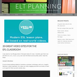 20 great video sites for the EFL classroom
