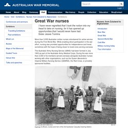Great War nurses