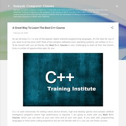 A Great Way To Learn The Best C++ Course