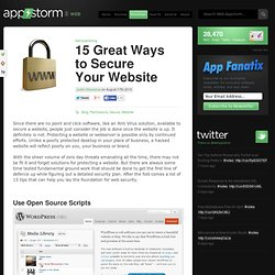 15 Great Ways to Secure Your Website