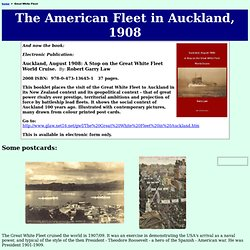 Great White Fleet in Auckland New Zealand