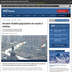 Greater Dublin population to reach 2 million
