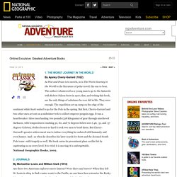 The 100 Greatest Adventure Books of All Time