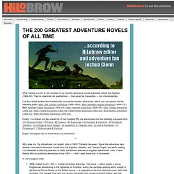 The 200 Greatest Adventure Novels of All Time