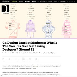 Co.Design Bracket Madness: Who Is The World's Greatest Living Designer? [Round 3]