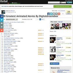 100 Greatest Animated Movies By Digitaldreamdoor list