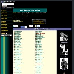 100 Greatest Jazz Artists