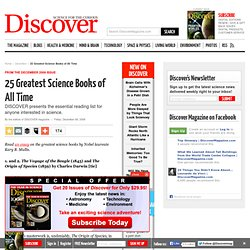 25 Greatest Science Books of All Time