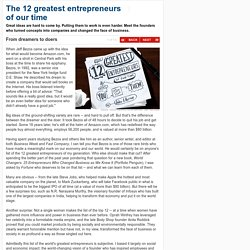 The 12 greatest entrepreneurs of our time - From dreamers to doers (1) - CNNMoney
