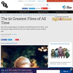The top 50 Greatest Films of All Time