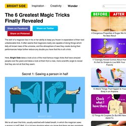 The 6 Greatest Magic Tricks Finally Revealed