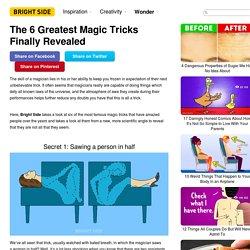 The6 Greatest Magic Tricks Finally Revealed