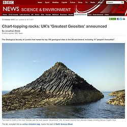 Chart-topping rocks: UK's 'Greatest Geosites' announced