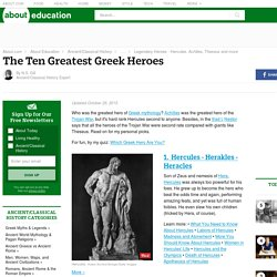 Top 10 Greek Heroes of Myth and Legend