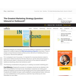 The Greatest Marketing Strategy Question: Inbound or Outbound?