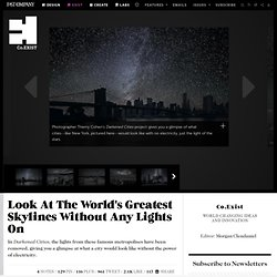 Look At The World's Greatest Skylines Without Any Lights On