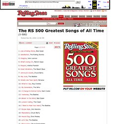 The RS 500 Greatest Songs of All Time : Rolling Stone
