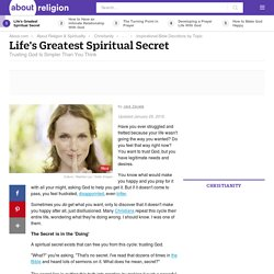Trust God - Learn Life's Greatest Spiritual Secret